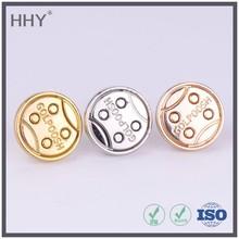 garment button , gold round button , pin button