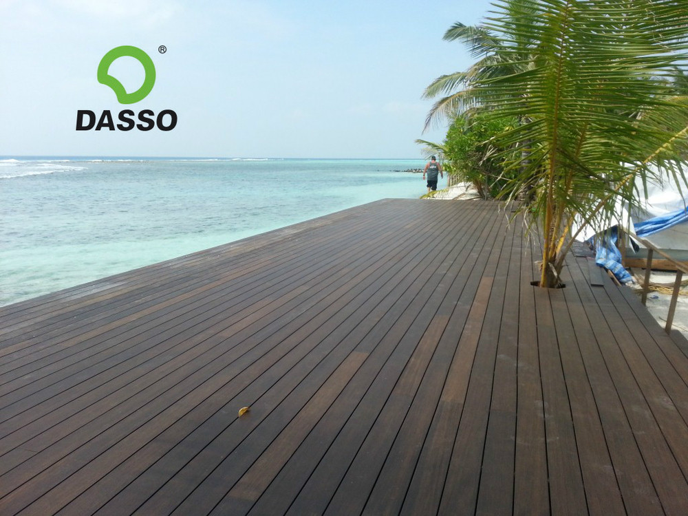Eco Tech Exterior Decking Made From Bamboo Substitute For