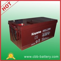 KOYAMA VRLA AGM UPS rechargeable storage battery 200 AH 12V
