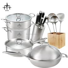 Stainless steel cookware set/kitchen utensils/kitchen tools/DX-A04