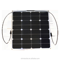 50W High efficiency flex solar pv panel for 12v/24v battery system