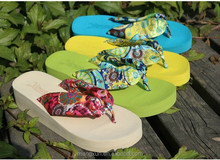Bohemia silks and satins flip-flops high-heeled platform wedges cool summer slippers sandals slippers