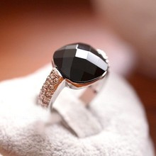 Men's Europe Vintage Dark stone Enamel Alloy Ring
