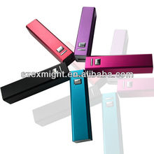 Attractive gifts famous brand mobile phone power bank 2600mah, Top quality custom-made mobile phone power bank