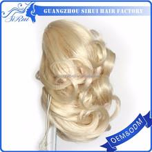 Fashion lady color blond 613 kanekalon ponytail rubber bands, ponytail short hair, ponytail tie