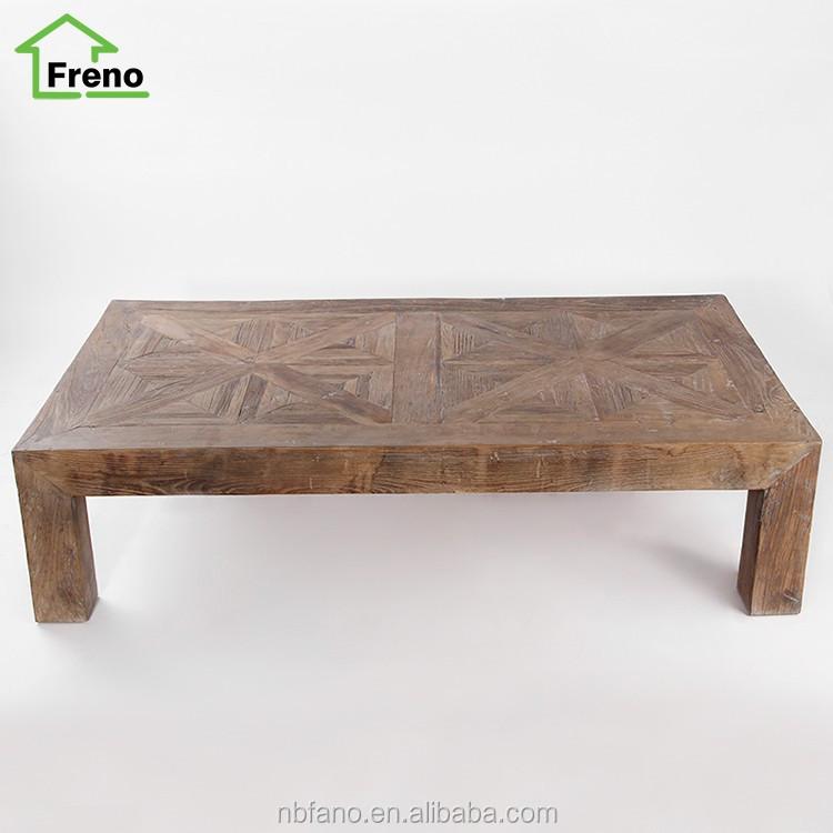 En bois massif fran ais provincial meubles vintage classique table basse rust - Table basse classique ...