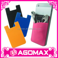 Top quality 3M sticky mobile phone silicone card holder wallet