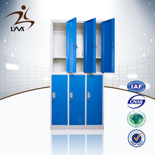 Commerical furniture 6 door steel clothes locker metal school locker changing room locker