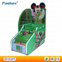 Funshare new Chinese kids games indoor street basketball arcade game machine for children