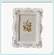 Resin flower classic european style beautiful photo frames