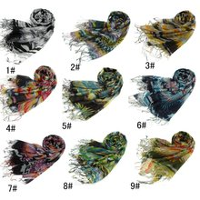 2012 spring/autumn fashion acrylic scarf new design printed Angel wings ladies's long scarf colorful printed fresh stylish scarf