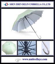 All green color uv coated straight umbrella size, waterproof umbrella odm