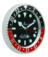 Red and Black frame Rolex clock with luminous clock hands, home decor