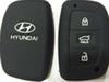 Big discounts 3 button silicon rubber key protector for hyundai key car key silicone case