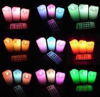 Changing 12 Color LED Electronic Flameless Smokeless Candle Light Remote Control