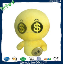 Hot sale promotion toy love money character voodoo doll plush