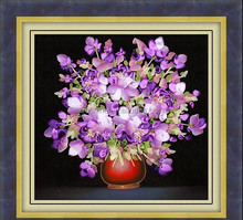 Silk embroidery pictures&Handmade silk ribbon embroidery