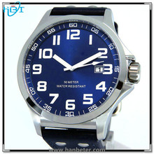 High quality japan movt quartz watch with silicone/genuine leather strap available