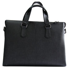 Everyday Soft Leather Man's 15-Inch Laptop Business Messenger Bag (black)