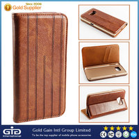 NP-2130 PU Leather Cover Case for Galaxy S6 with Phone Holder and Card Slot
