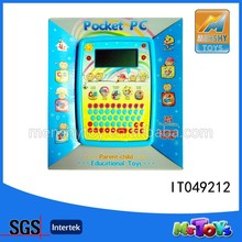 2015 HOT SELL Kids Intelligent Learning Machine English Ipad Toy with LCD