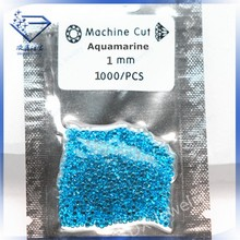2014 machine cut stone 1mm aquamarine