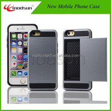 For iphone 6plus colorful case,card slot case for iPhone 6Plus