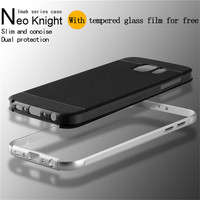 Luxury Imak metal bumper silicone back cover case for samsung s6