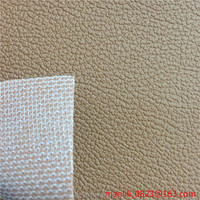 Anti scratch abrasion resistant litchi grain PVC artificial car seat leather