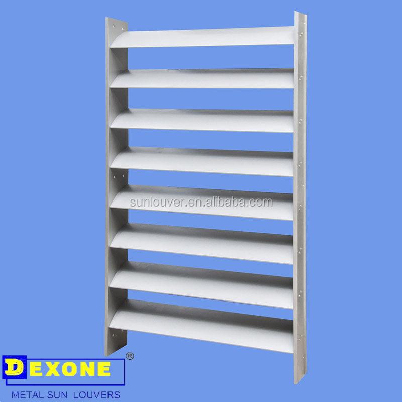 Exterior Aluminum Fixed Louver System As Building Facade Buy Louver System