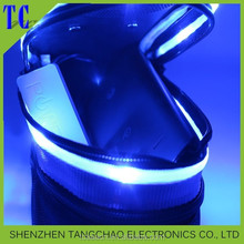 2015 Bicycle flashing bag,new design bicycle led backpack simple waterproof saddle bag with light