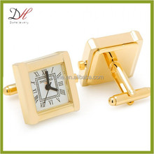 Daihe CFD135 Gold stainless steel square watch cufflinks