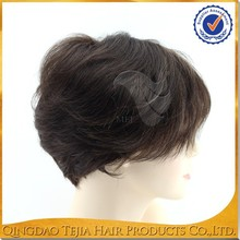 wholesale top quality synthetic mustache wig short hai wig