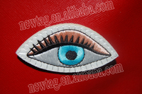 embroidery patch embroidered custom badges / patches Eye Patch: Felt + Embroidery
