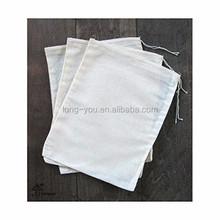 Recycled cotton bag drawstring bag cotton