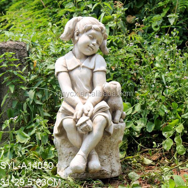 MGO Garden Landscaping Little Boy Garden Statue. SYL A14050.JPG