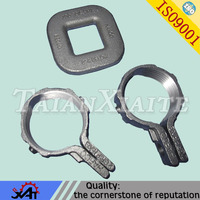 China Lost wax precision casting ductile iron galvanized steel pipe clamp for construction spare parts