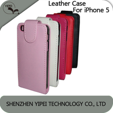 Hot Sell PU Leather Cover Case For iphone 4 4s 5 5S Wallet With ID Credit Card Slots Stand Holder Anti-dust Phone Case