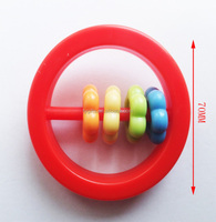 Plastic rattle toys,plastic baby toys,abacus beads toys