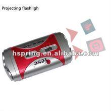 mini led time digital projection clock with flashlight