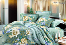 high quality woven 7pcs embroidered pattern cashmere filler comforter set