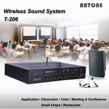 T-212 120W x 2 usb sd fm bluetooth amplifier for teacher use in classroom