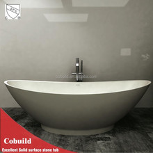 Personalizar superficie sólida bañera, los diseños de baño independiente piedra baños, ingeniería bañera de piedra
