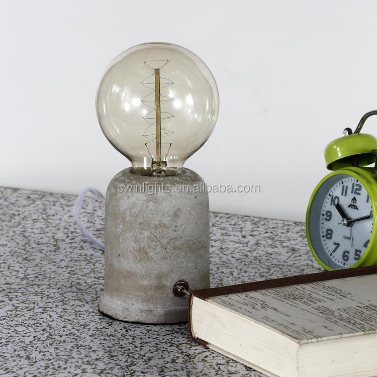 licht beton cement beton gesso tafellamp decoratieve verlichting ...