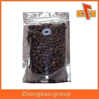 Coffee bean package foil backed bags clear front transparent aluminum foil packaging bag