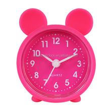 Silicone mini funny kids alarm clock