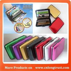 6 colors Aluminum wallet credit card wallet card holder LT-7111b