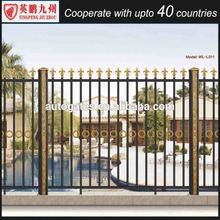 Easily assembled profile fence and gate aluminum coated powder, powder coated fence panels, cast aluminum fence for industrial