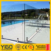 safety portable pool fence/12mm thick tempered glass fence panels