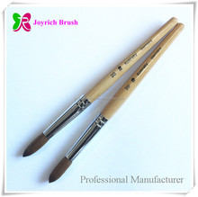 Wood Nail Art Brush Pure 100% Red Sable Hair Brush Pensils